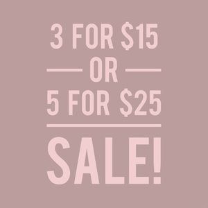 ✨3 FOR $15 SALE✨